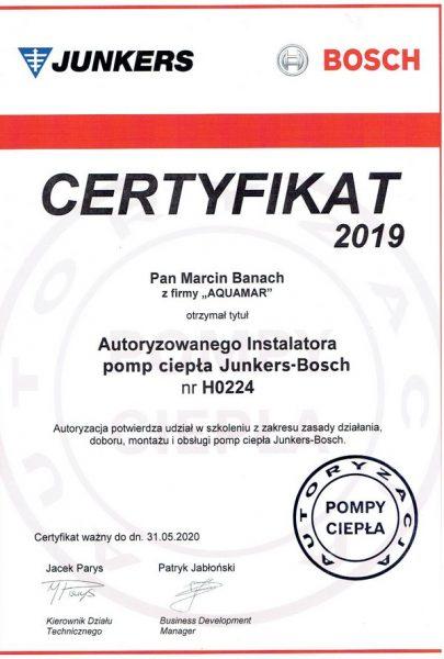 Certyfikat Junkers-Bosch